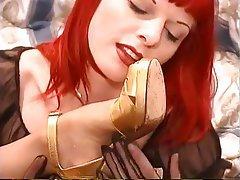 Lezbiyenler, Kızıl saçlı, Ayak Fetiş, Tayt