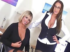 British, Lesbian, Secretary, Stockings