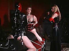 BDSM, Lesbian, Threesome, Blonde