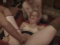 French, Lesbian, Stockings