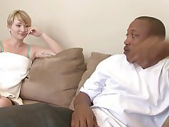 Interracial, Blowjob, Blonde