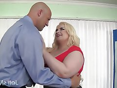 BBW, Big Boobs, Blonde, Hardcore