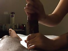 Amateur, Cumshot, Handjob, Interracial