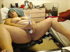 BBW, Masturbation, Webcam, Nerd
