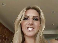 Blondine, Doppel Penetration, Flotter Dreier