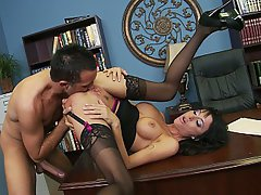 Brunette, Big Tits, MILF, Office