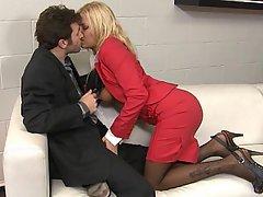Office, Blonde, Stockings, MILF