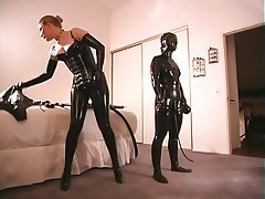 Lesbisch, Latex, BDSM, Blondine