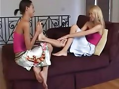 Foot Fetish, Lesbian, Massage