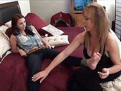 Fuß Fetisch, Lesbisch, Strumpfhose