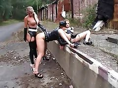 BDSM, Spanking, Outdoor, Latex