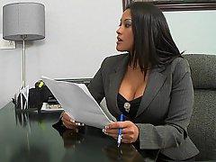 Big Tits, Brunette, MILF, Office