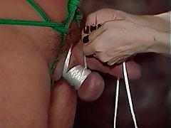 BDSM, Threesome, Brunette, Femdom